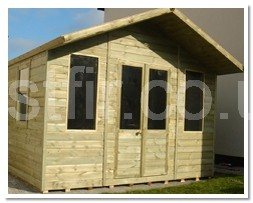 Apex Chalets with 2ft Canopy